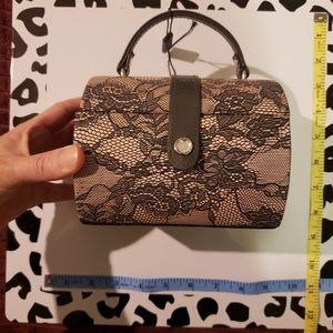 Tuscan design MINI jewelry box lace pink black